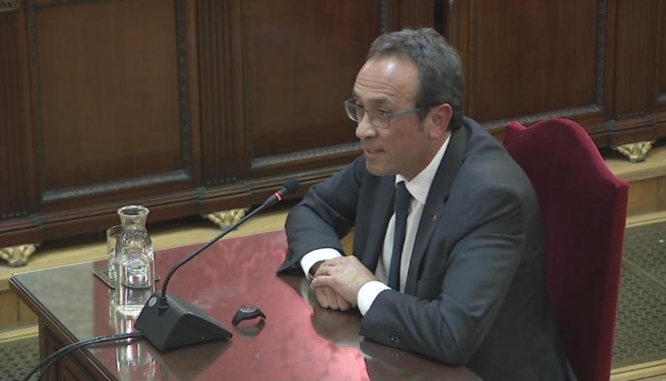 Pla general de Josep Rull durant l'últim torn de paraula al Tribunal Suprem.