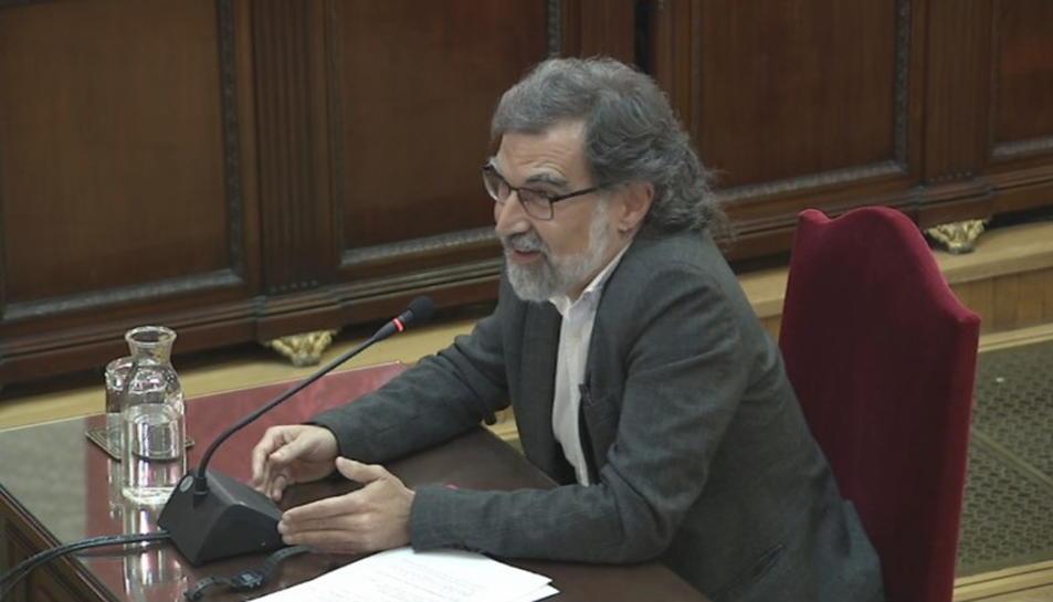 Pla general de Jordi Cuixart durant l'últim torn de paraula al Tribunal Suprem.