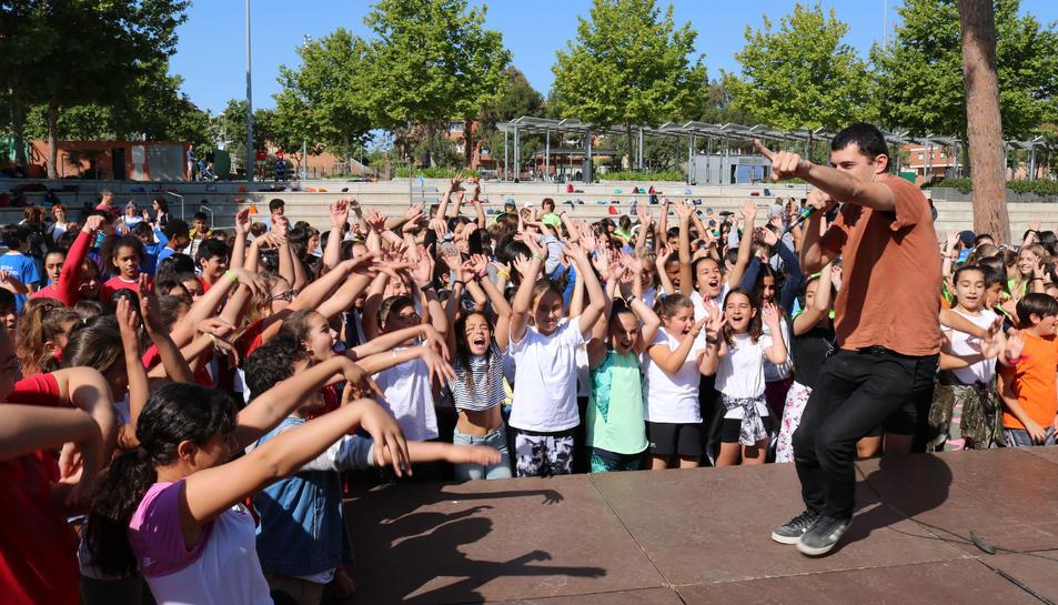 Durant la celebració al Parc del Pinaret