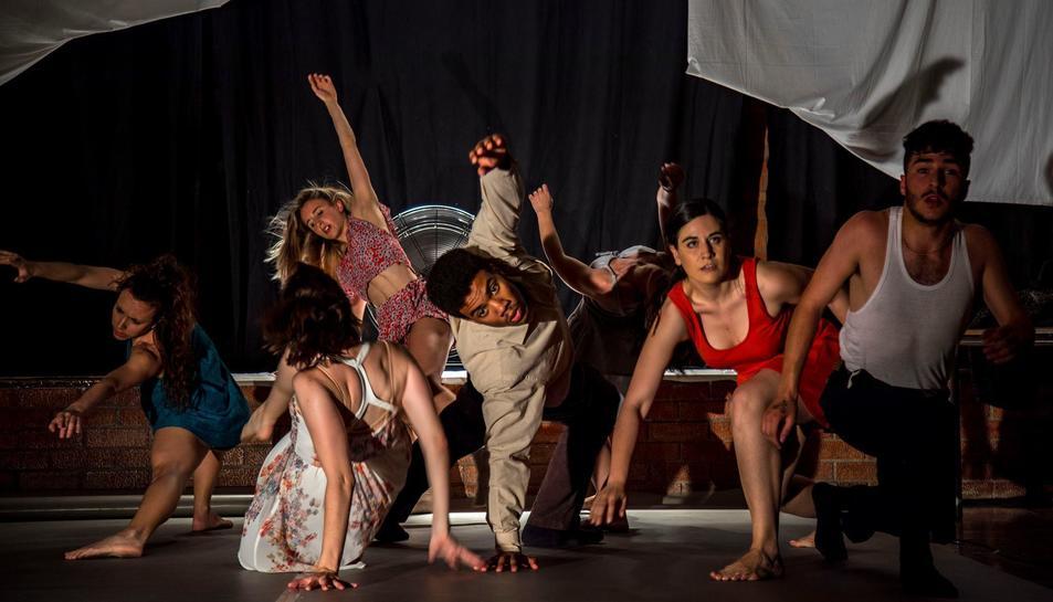 Imatge d'un moment de l'espectacle 'La força del vent'.