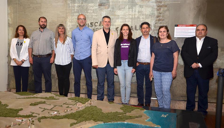 Els nou regidors que conformaran el nou equip de govern municipal de Tarragona.