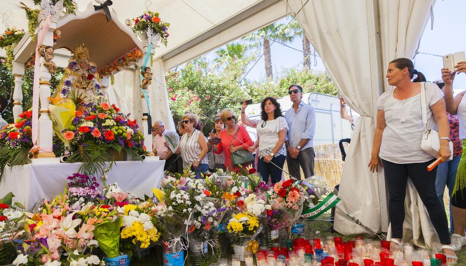 La imatge del Rocío tornarà a la seu social de la Casa de Andalucía de Tarragona demà dimarts.