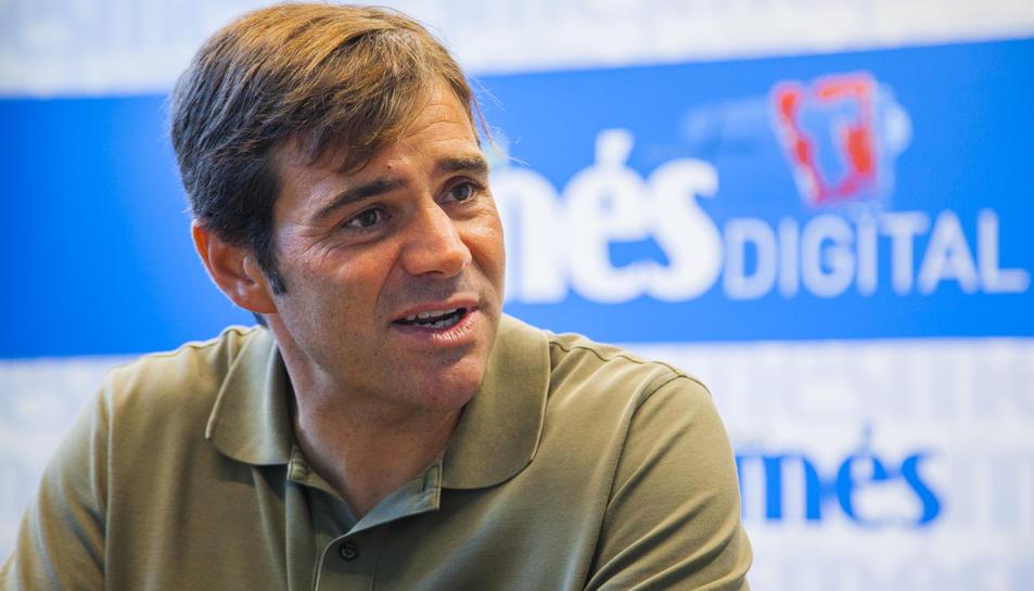 El regidor Dídac Nadal, portaveu de Junts per Tarragona, durant l'entrevista.