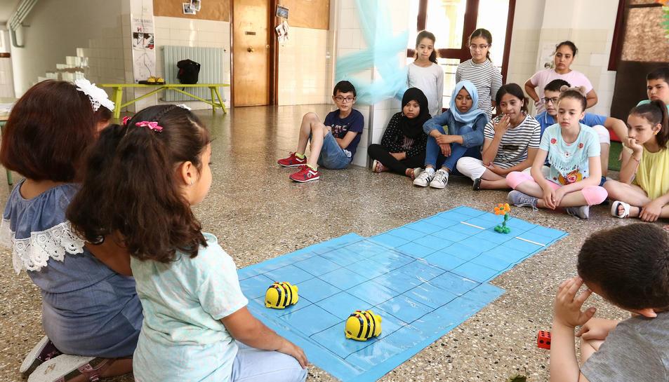 Un dels projectes que van mostrar els alumnes del centre educatiu ahir al matí.
