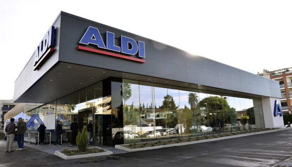 Imatge del supermercat que ALDI té a Cunit.