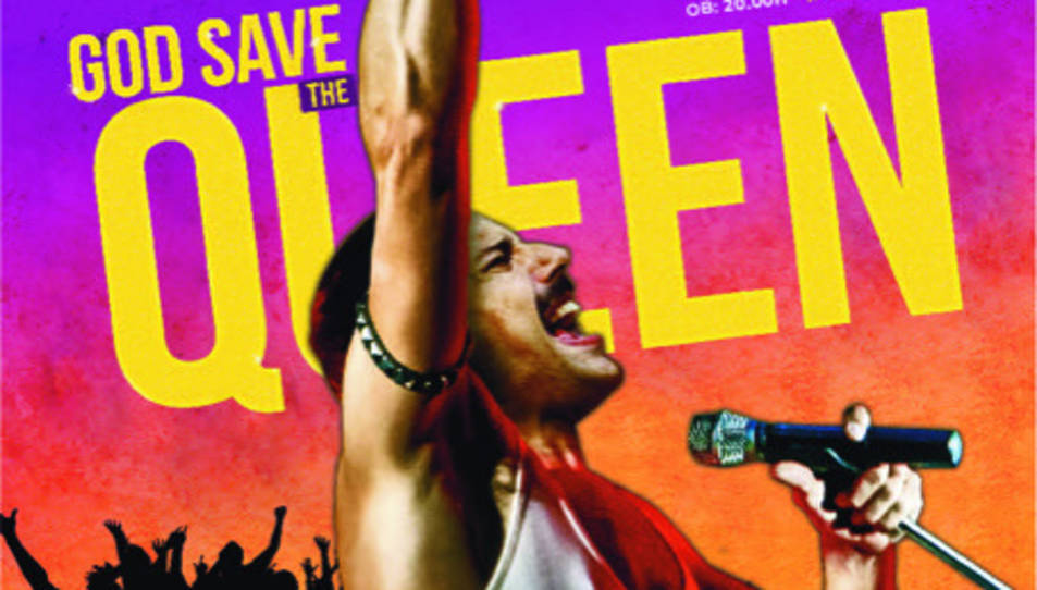 Imatge del cartell de l'espectacle tribut a Queen.