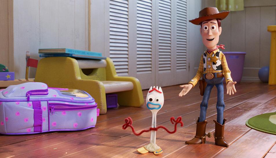 Una imatge de la pel·lícula 'Toy Story 4' amb els seus protagonistes