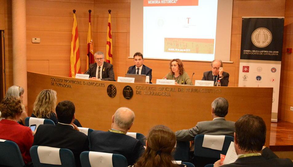 Inauguració d'una jornada sobre la Memòria Històrica organitzada pel Consell de l'Advocacia Catalana