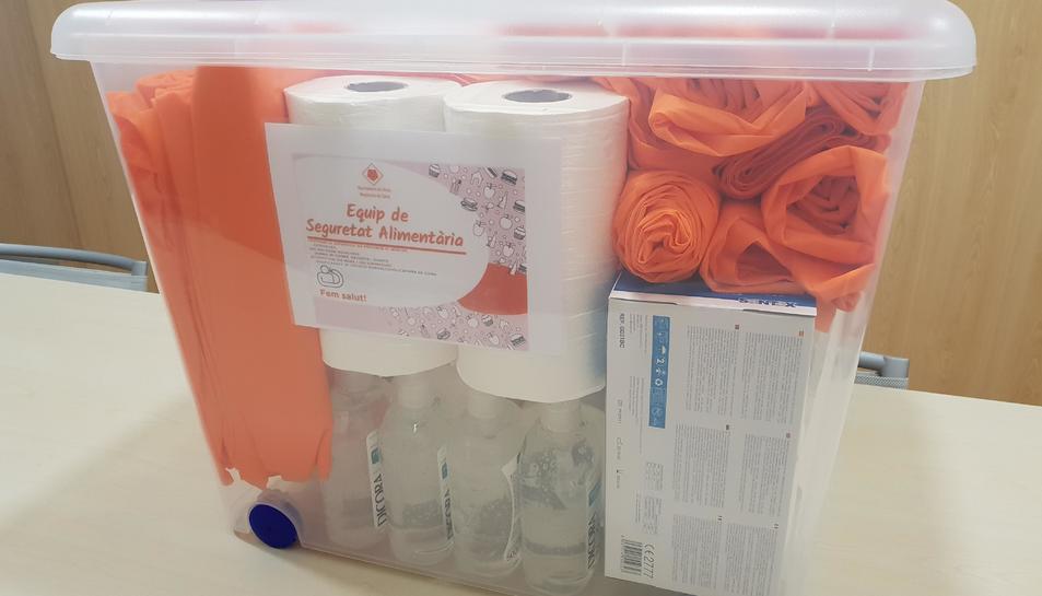 El paquet inclou material ddedicata  millorar la seguretat i l'higiene alimentària.