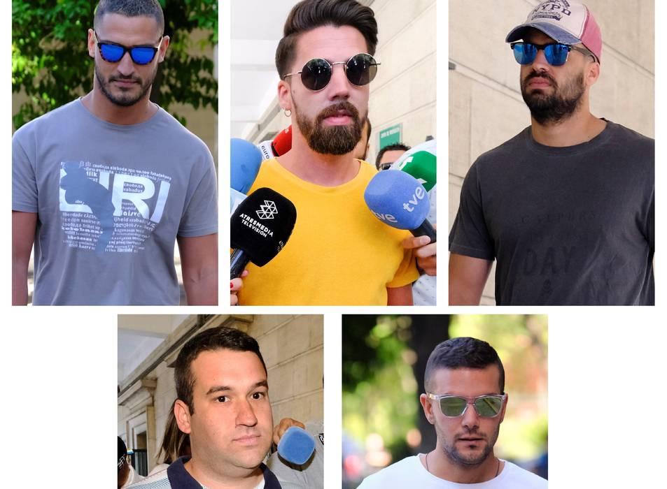 De dalt a baix: Alfonso Jesús Cabezuelo, Jesús Escudero, Antonio Manuel Guerrero, José Ángel Prenda i Ángel Boza.