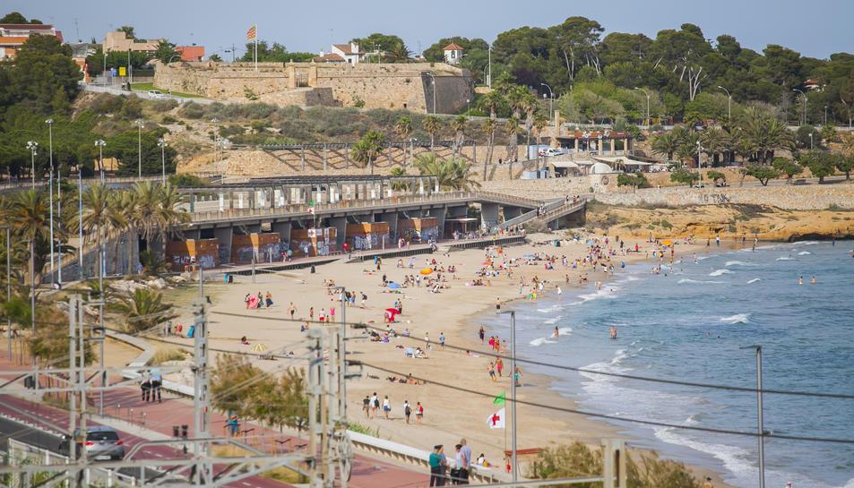 Imatge de la platja del Miracle de Tarragona.