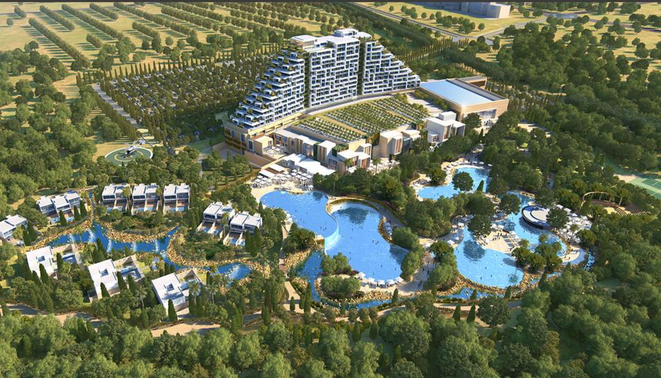 Imatge virtual del futur projecte xipriota, City of Dreams Mediterranean. Les obres estan adjudicades i finalitzaran en dos anys.