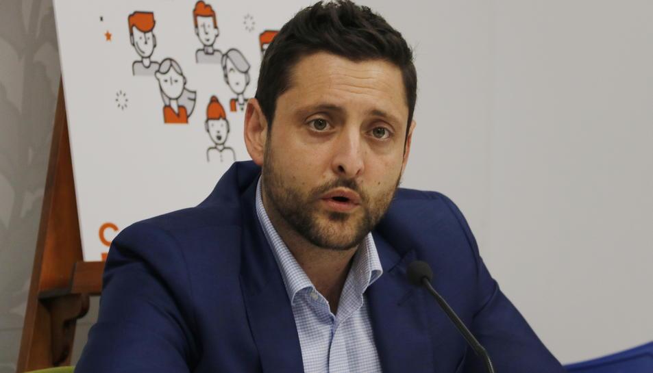 Viñuales, portaveu de Ciutadans a l'Ajuntament de Tarragona.