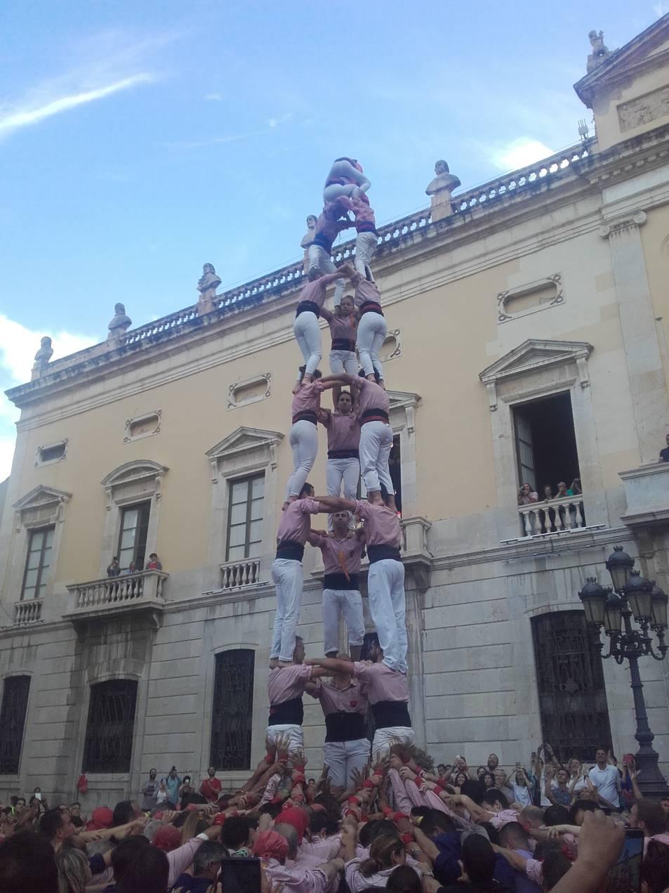 Tres de vuit dels Xiquets de Tarragona.