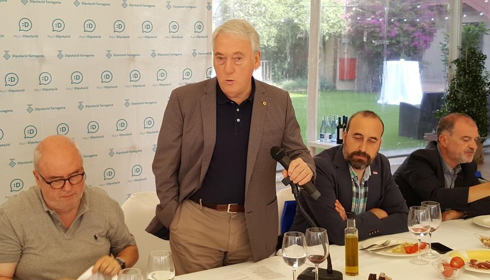 El president de la Diputació de Tarragona en funcions, Josep Poblet, ahir.