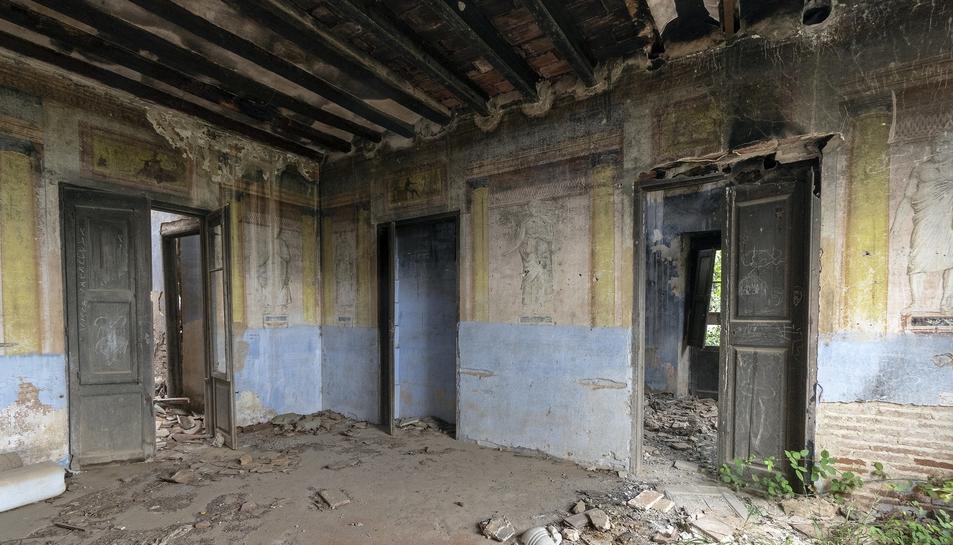 Imatge de l'interior de Mas Barber.