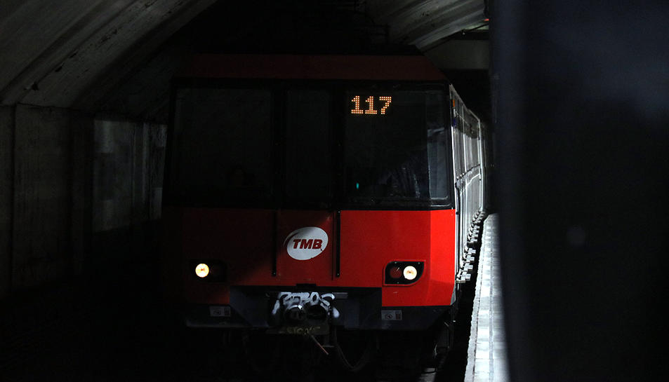 Imatge d'arxiu d'un comboi del metro de Barcelona.