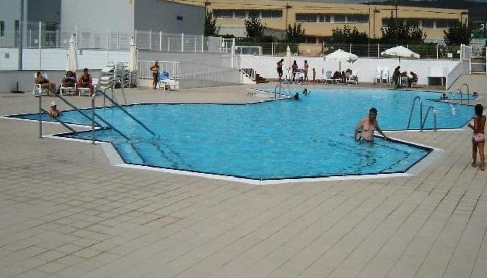 Imatge de la piscina del Club Tennis El Vendrell.