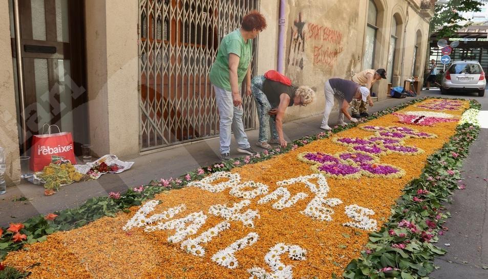 Les catifes de flors a Valls
