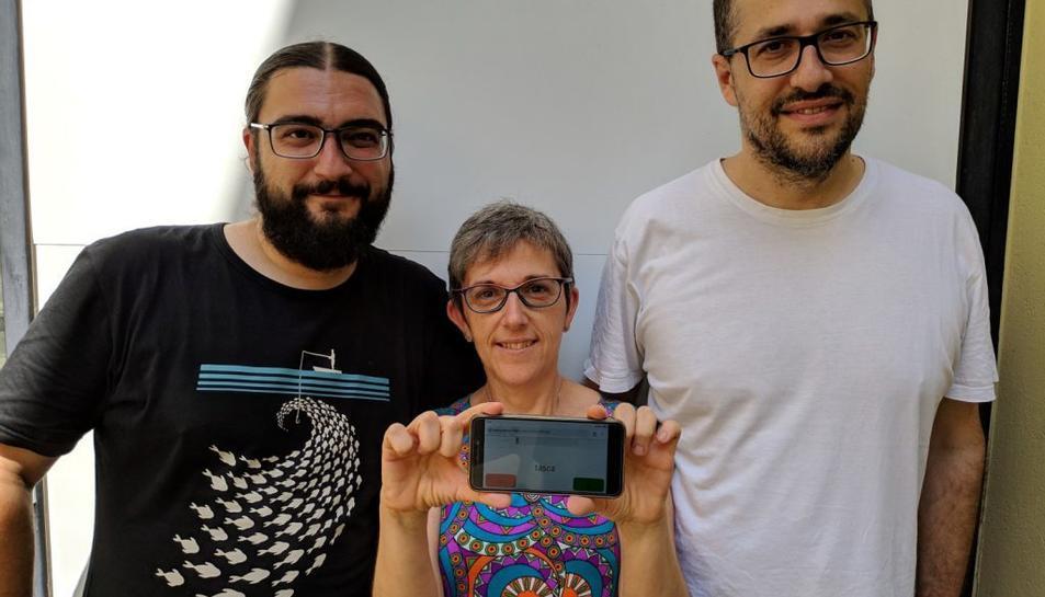 D'esquerra a dreta: Roger Boada, Pilar Ferré i Marc Guasch.