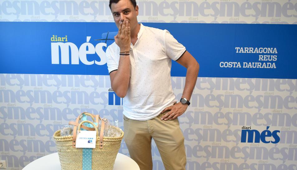 David Portero, guanyador de la cistella de productes de Caprabo.