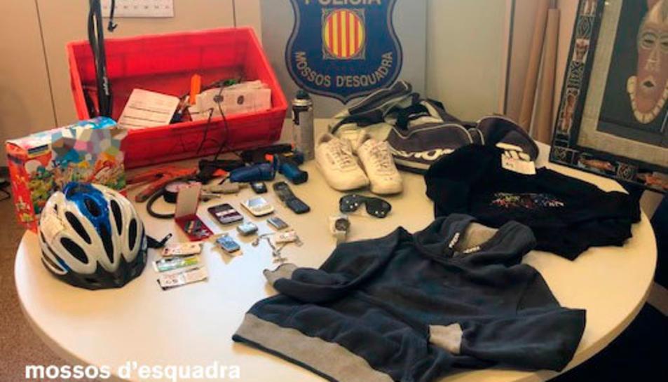 Imatge d'alguns dels objectes robats.