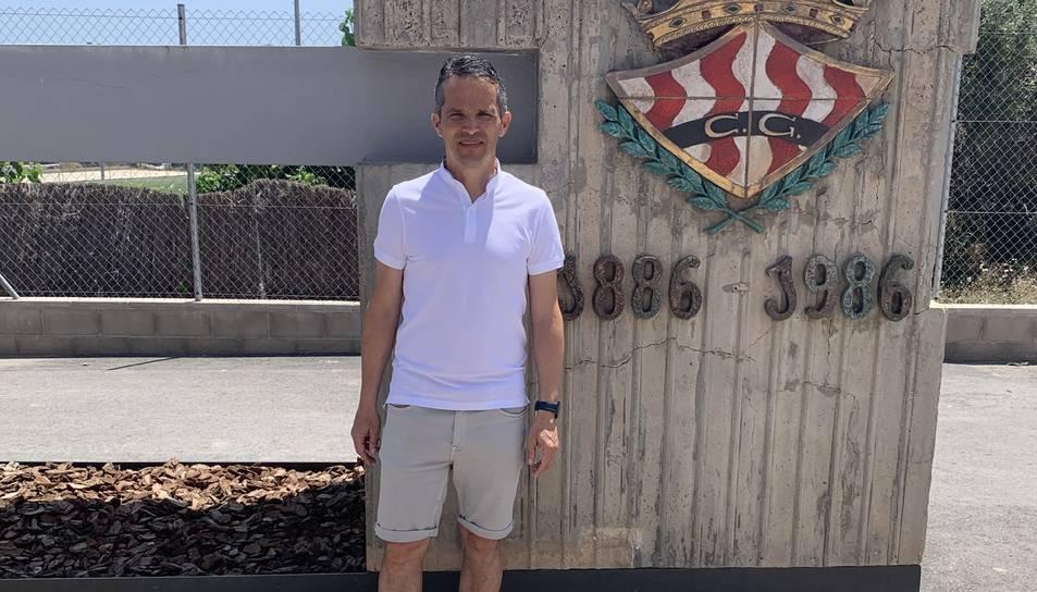 Xavi Bartolo, a les instal·lacions de la Budellera, ha tornat al Nàstic per ser-ne l'entrenador.