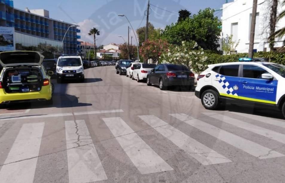 L'accident s'ha produït a l'avinguda Brisamar.
