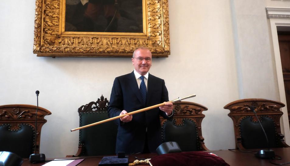 Pellicer després de ser nomenat alcalde.
