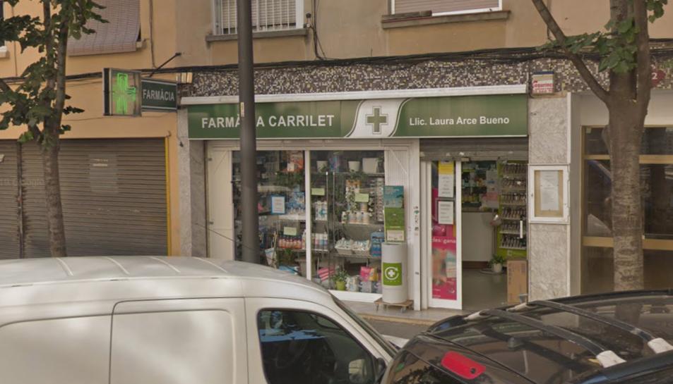 Imatge de la farmàcia on s'hauria produït l'atracament.