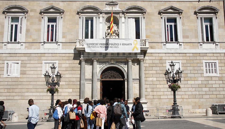 Una imatge recent del Palau de la Generalitat.