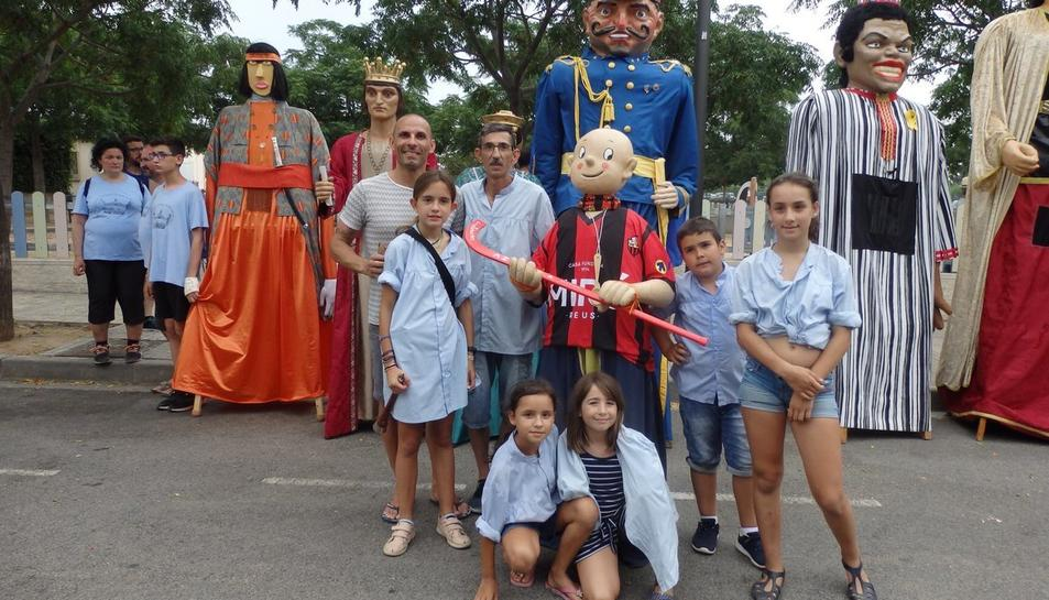 El Gegantó va participar el cap de setmana passat a les festes de Blancafort.