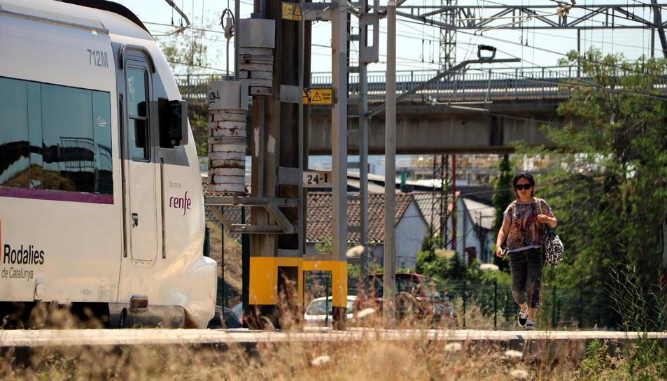 El pas de l'estació de Mollet del Vallès on s'ha produït l'atropellament.