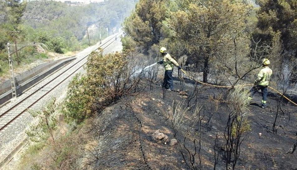 Un bomber treballant