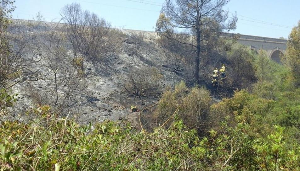 Imatge de l'incendi de Salomó.
