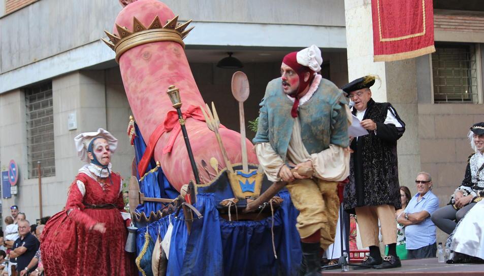 Un moment de l'espectacle de cloenda de la Festa del Renaixement de Tortosa de l'any passat.