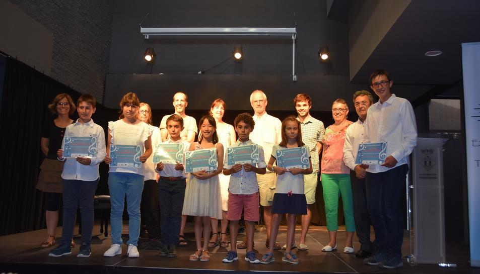 Fotografia dels guanyadors.