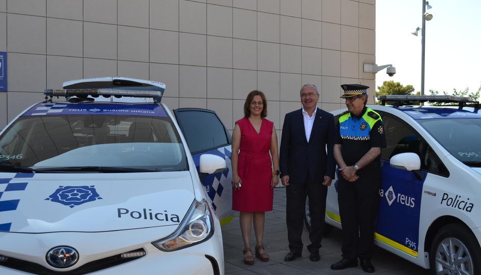 Imatge de la presentació dels nous vehicles de la Guàrdia Urbana.