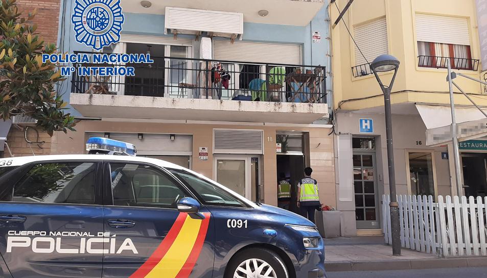 Imatge de l'operació policial a Cambrils.