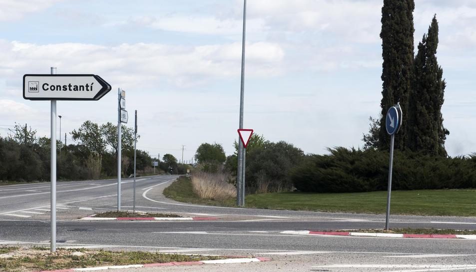 Senyalització cap al Polígon Industrial de Constantí.