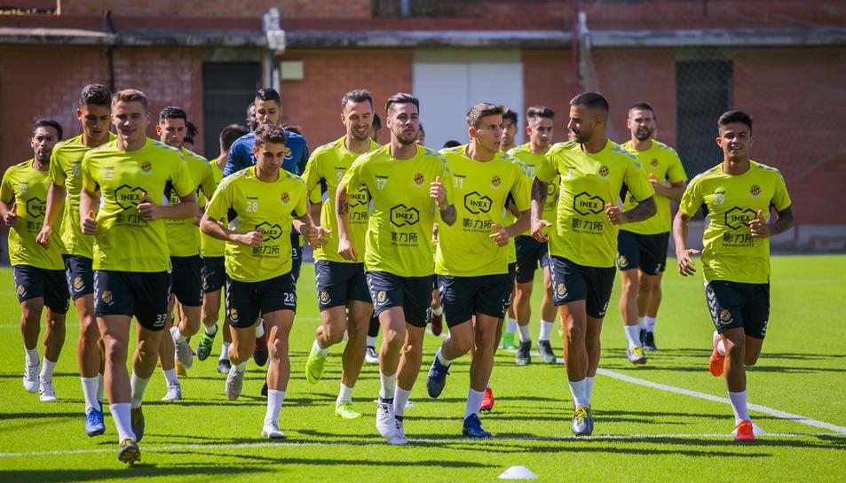 L'única absència va ser la del darrer fitxatge, Lolo Plá, que s'incorporarà aquest matí als entrenaments amb la resta de companys