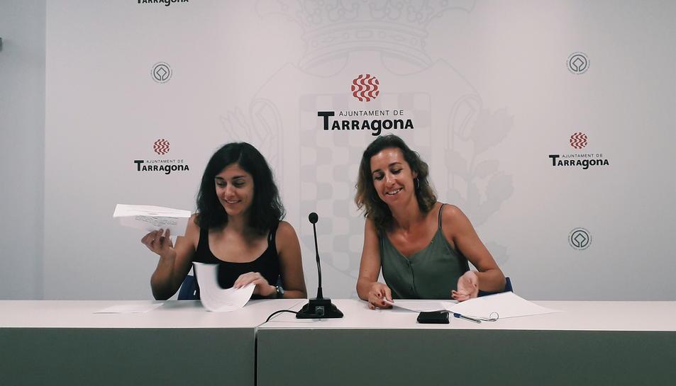 Les regidores del grup muniicpal de la CUP a Tarragona.
