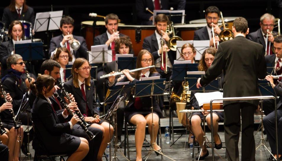 Imatge d'arxiu d'un concert de la Banda Unió Musical de Tarragona (BUMT).