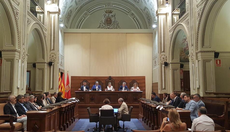 Imatge del ple de la Diputació de Tarragona d'aquest dimarts, 16 de juliol.