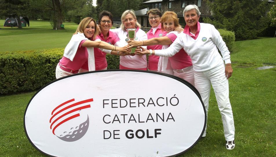 Imatge de les jugadores del Golf Costa Daurada de Tarragona.