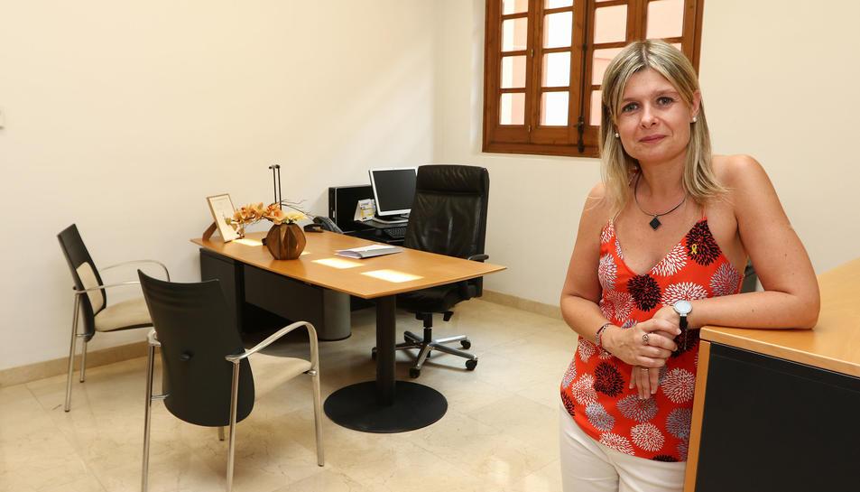Llauradó, al despatx que ocupa a l'Ajuntament de Reus on ostentarà aquest mandat 2019-2023 el càrrec de vicealcaldessa de la ciutat