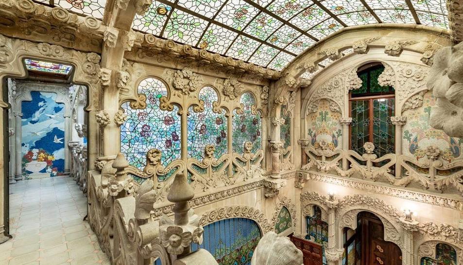 Imatge de l'interior de la Casa Navàs de Reus.