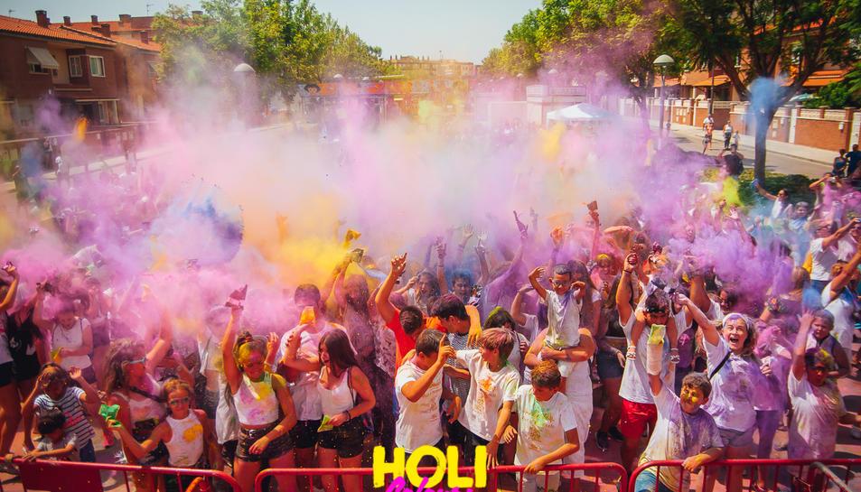 Imatge de la Holi Colours Festival que tindrà lloc aquest diumenge al barri de l'Albada de Tarragona.