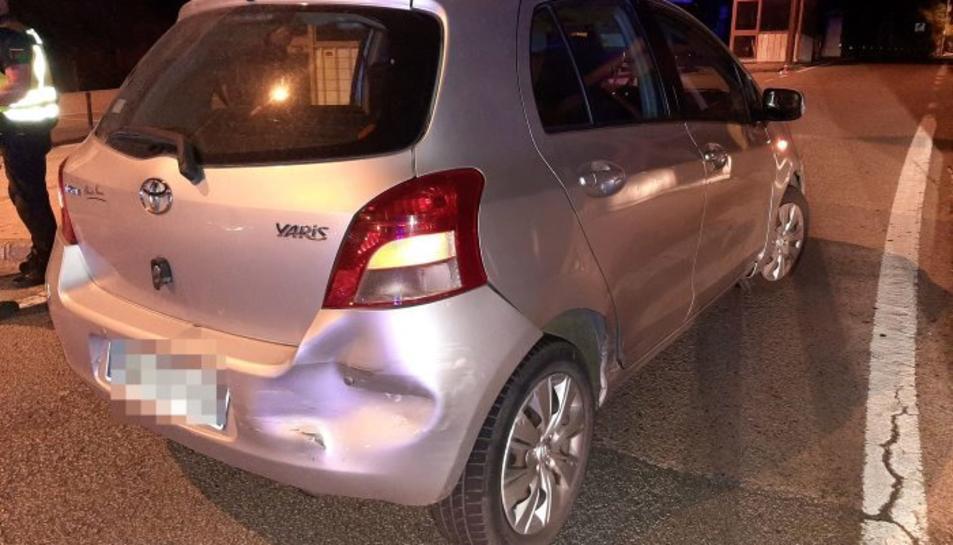 El vehicle que conduïa el detingut