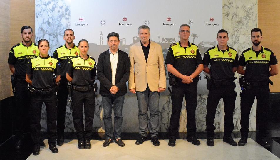 Imatge de la presentació dels nous agents de la Guàrdia Urbana de Tarragona.